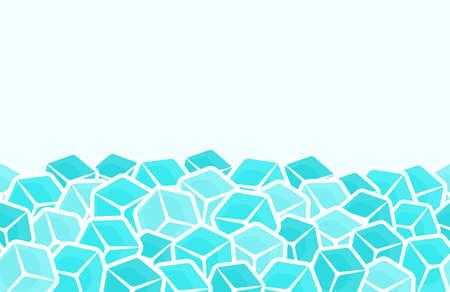 Vector ice cubes