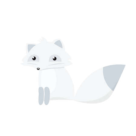 Cartoon arctic fox.