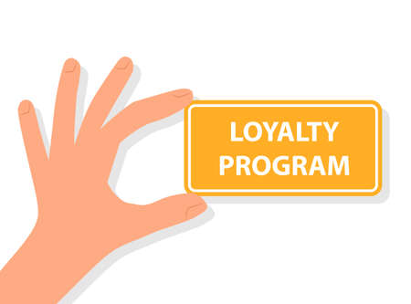 Hand holding loyalty program card