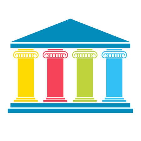Diagramm mit vier Säulen