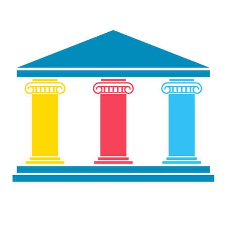 Diagrama de tres pilares Foto de archivo - 104602081