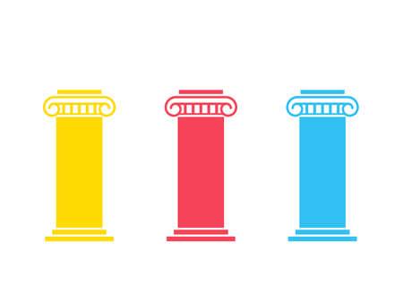 Diagramme à trois piliers Vecteurs