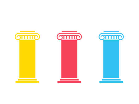 Drei-Säulen-Diagramm Vektorgrafik