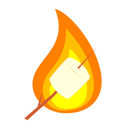 Roasted marshmallow on stick Ilustracje wektorowe