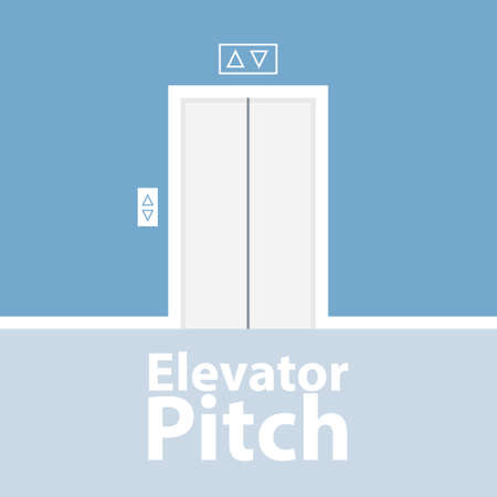 Elevator pitch concept Stock Illustratie