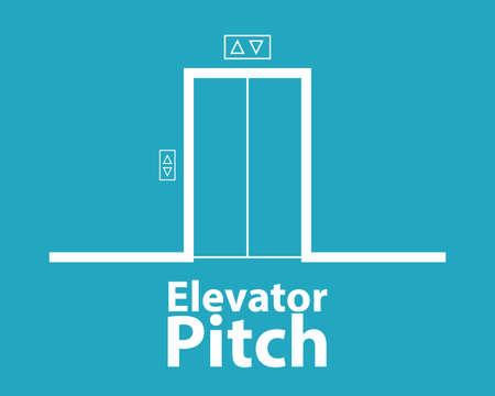 Concept de pas d'ascenseur. Image vectorielle Vecteurs