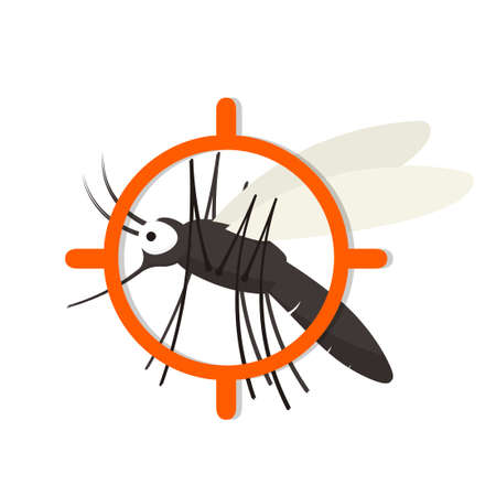 Mosquito aim icon. Pest control clip art isolated on white background