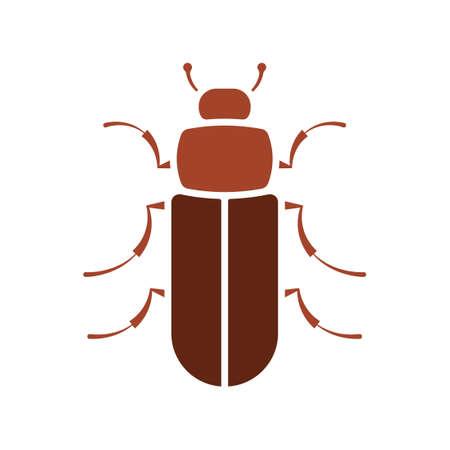 Flour beetle icon Foto de archivo - 104519244