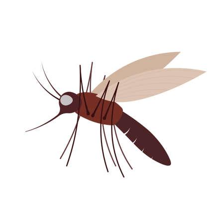 Moskito-Symbol. Schädlingsbekämpfung ClipArt lokalisiert auf weißem Hintergrund
