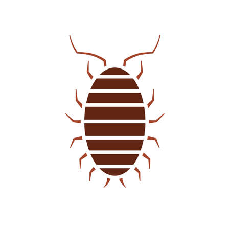 Sow bug icon. Pest control clipart isolated on white background