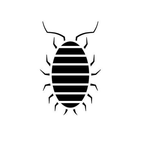 Fehlersymbol säen. Schädlingsbekämpfung Clipart isoliert auf weißem Hintergrund