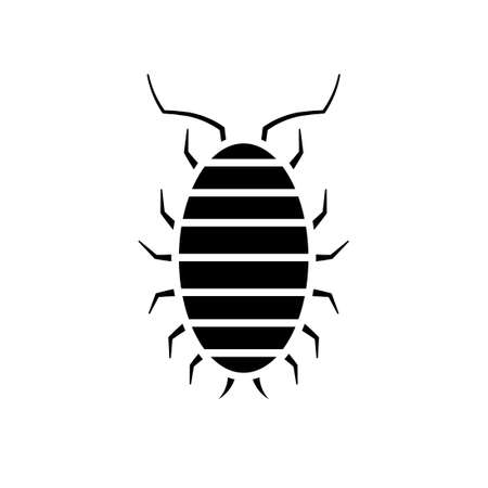 Sow bug icon. Pest control clipart isolated on white background Illustration