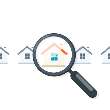 Home appraisal icon. Real estate clipart isolated on white background Illustration