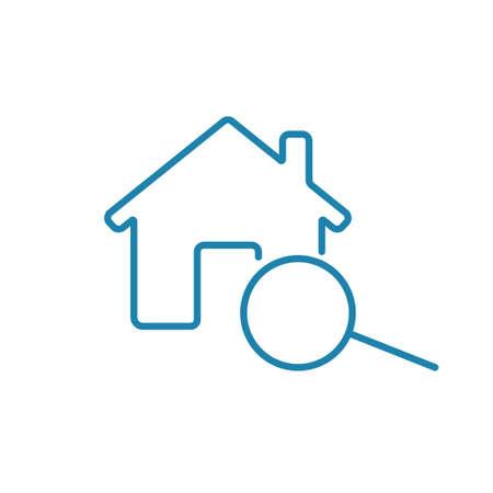 Icône d'évaluation à domicile. Clipart immobilier isolé sur fond blanc
