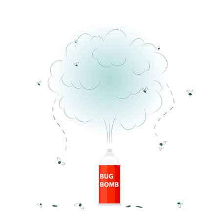 Bug bomb icon Illustration