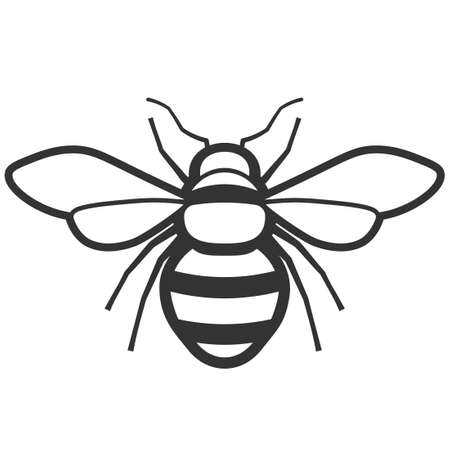 Honey bee icon. Pest control clipart isolated on white background Illustration