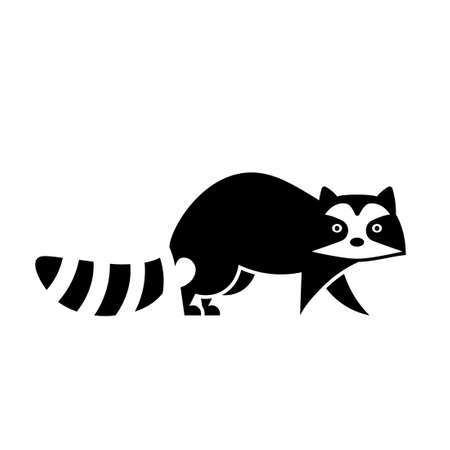 Raccoon icon. Animal control clipart isolated on white background