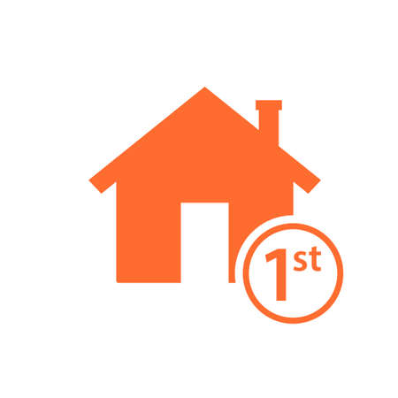 first time home buyer icon. Real estate clipart isolated on white background Illustration