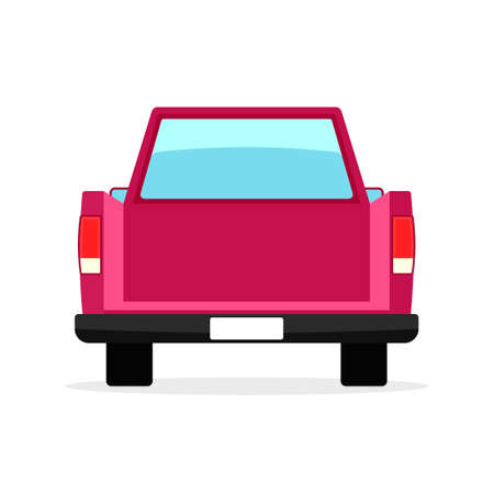 Car back view. Tailgating party clipart isolated on white background