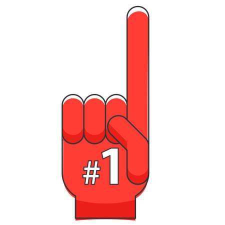 Icono de dedo de espuma. Clipart de deporte aislado sobre fondo blanco Ilustración de vector