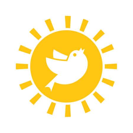 Early bird icon. Discount clipart isolated on white background Vektoros illusztráció