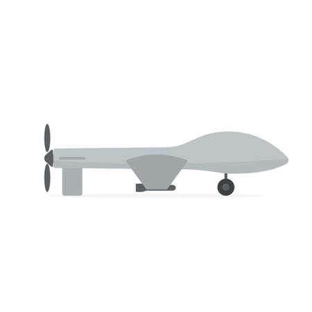 Icône de drone militaire. Image vectorielle isolée sur fond blanc