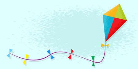 kite in sky. Vector illustration Illustration