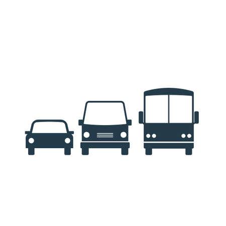 transport icon set. Vector illustration isolated on white background