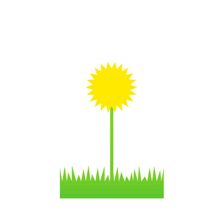 Lawn weed icon. Lawn care clipart isolated on white background Ilustracja