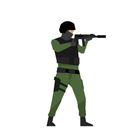 Police swat officer icon. Clipart image isolated on white background