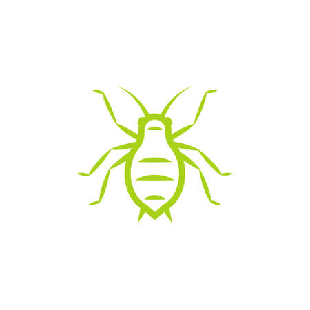 Aphid green outline icon . Clipart image isolated on white background