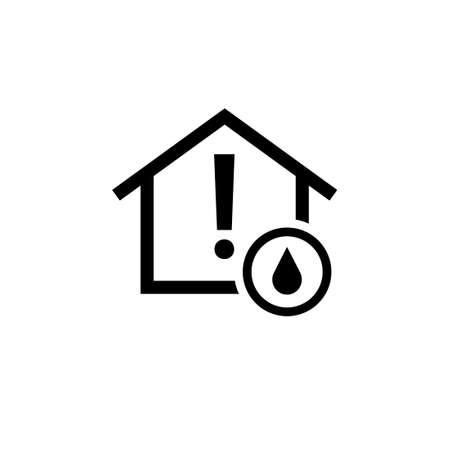 Water leak sensor outline icon. Clipart image isolated on white background