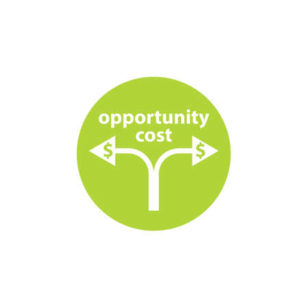 Cost Opportunity button icon. Clipart image isolated on white background
