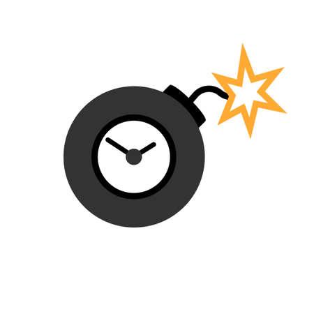 Ticking time bomb icon. Clipart image isolated on white background Vektoros illusztráció