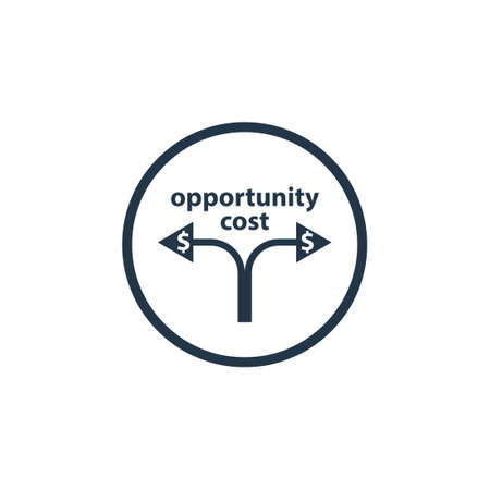 Cost Opportunity icon. Clipart image isolated on white background
