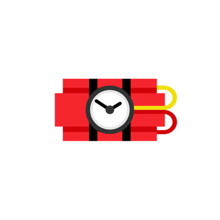 Ticking time bomb icon. Clipart image isolated on white background Illustration