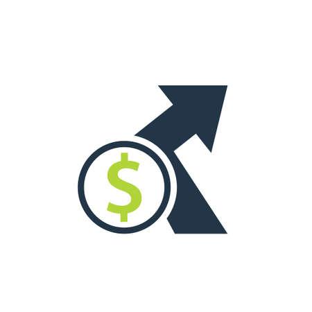 Icono de costo indirecto. Imagen prediseñada aislada sobre fondo blanco