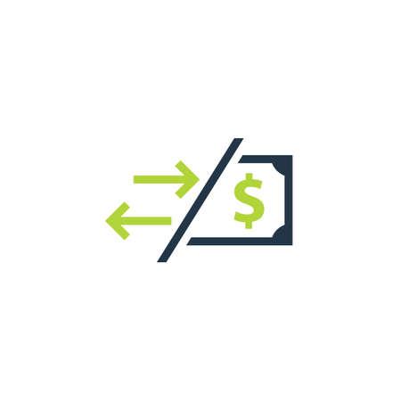 Cost transaction icon. Clipart image isolated on white background Ilustração