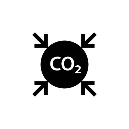 CO2 reduction black icon. Clipart image isolated on white background 일러스트