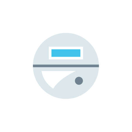 Smart meter icon. Clipart image isolated on white background