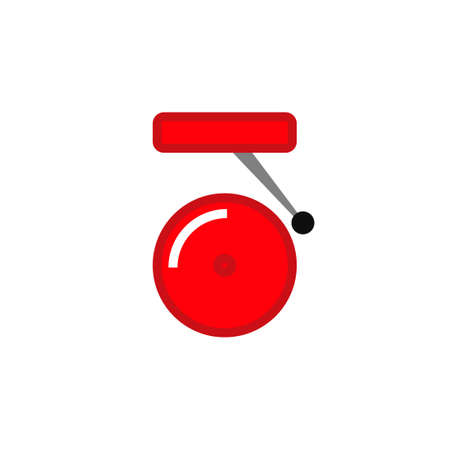 Alarm bell icon. Clipart image isolated on white background