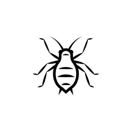 Aphid outline icon . Clipart image isolated on white background