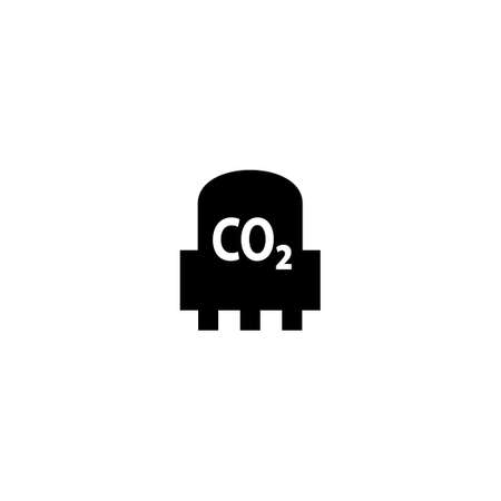Sensor CO2 silhouette icon. Clipart image isolated on white background