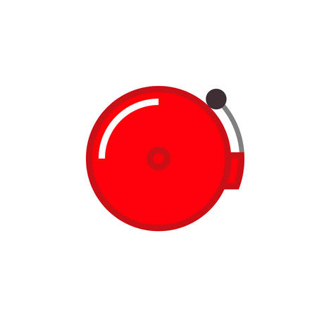 Boxing bell icon. Clipart image isolated on white background