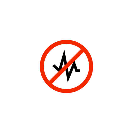 Noise Reduction stop sign icon. Clipart image isolated on white background