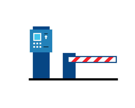 Parking ticket machine icon. Clipart image isolated on white background