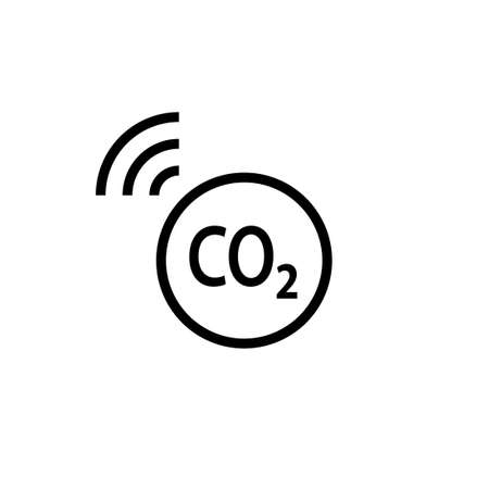 Sensor CO2 outline icon. Clipart image isolated on white background