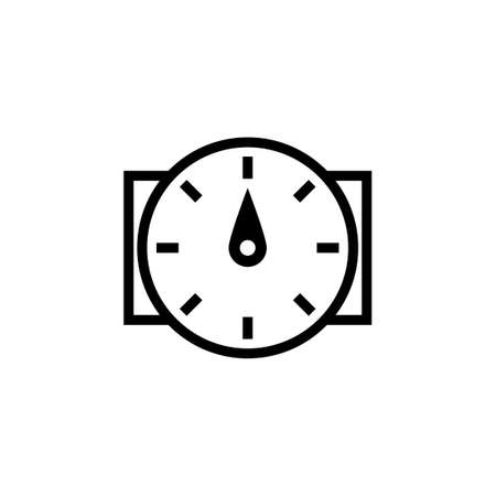 Water flow sensor outline icon. Clipart image isolated on white background