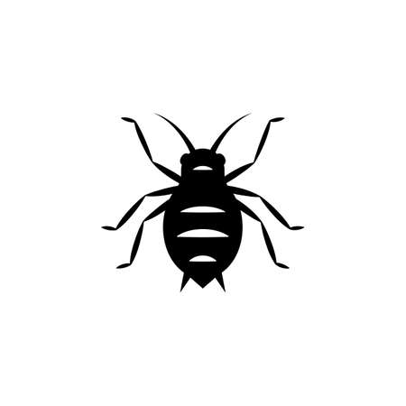 Aphid silhouette icon . Clipart image isolated on white background