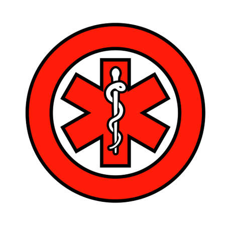 Medical symbol of the Emergency. Clipart image isolated on white background Illustration